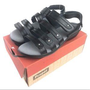 Propet Aurora Sandals WSX003L Black Leather Comfy